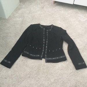 White House Black Market Black Studded Jacket